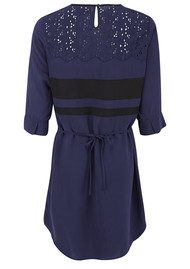 Pyrus Bow and Lace Dress - Ultra Marine
