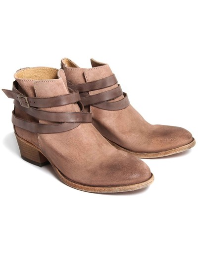H By Hudson Horrigan Suede Ankle Boots - Blush main image