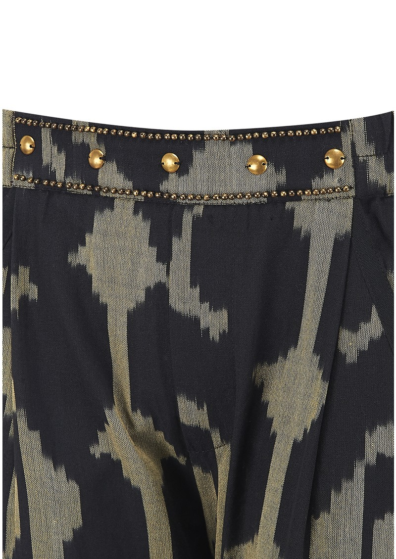 Studio Printed Trousers - Ikat main image