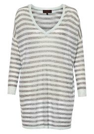 Great Plains Stripe V Neck Top - Marble