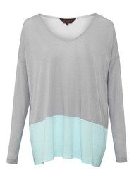 Great Plains Featherwt Block Tee - Marble & Mint