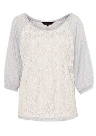 Great Plains Olivia Lace Top - Marble