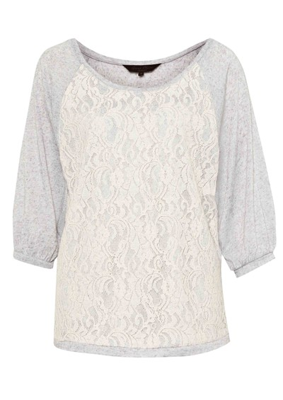 Great Plains Olivia Lace Top - Marble main image