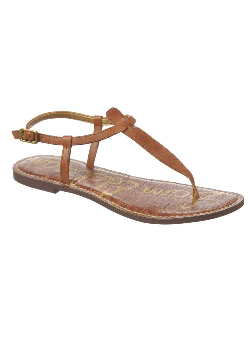 Gigi Atanado Leather Sandals - Saddle main image