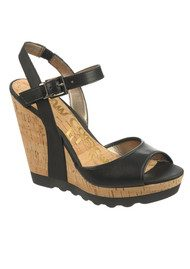 Karina High Wedge - Black