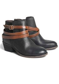 H By Hudson Horrigan Ankle Boots - Black & Tan