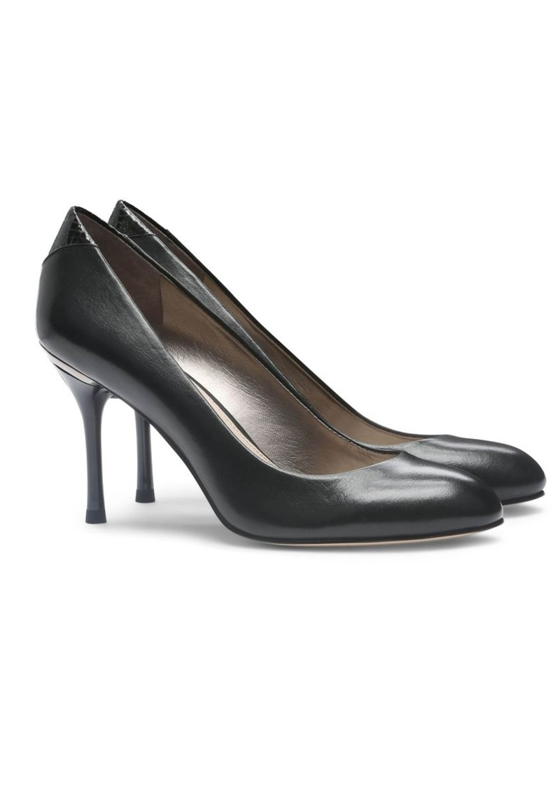 Camdyn Leather Low Heels - Black main image