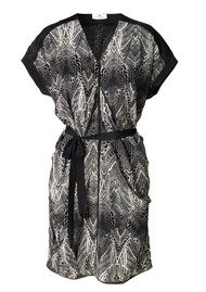 Day Birger et Mikkelsen  Pinion Silk Printed Dress - Seed Pearl