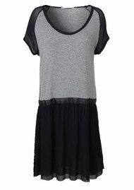 Day Birger et Mikkelsen  Lotus Drop Waist Dress - Grey Melange