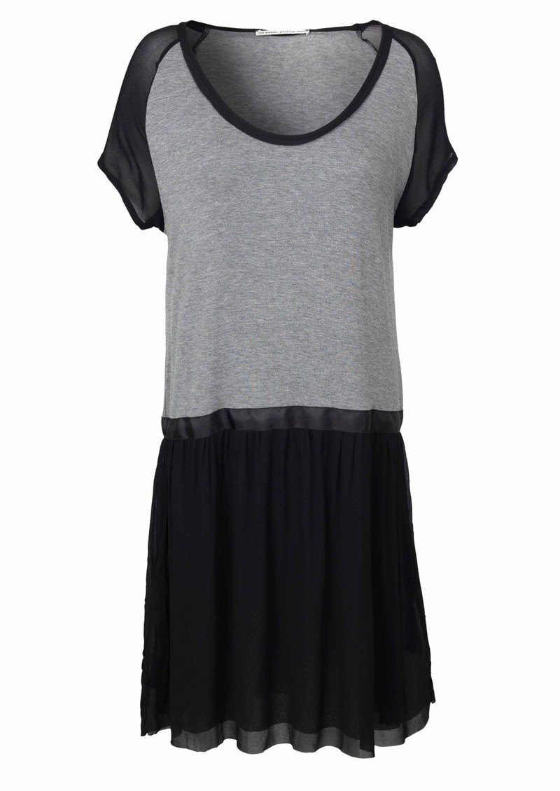 Lotus Drop Waist Dress - Grey Melange main image