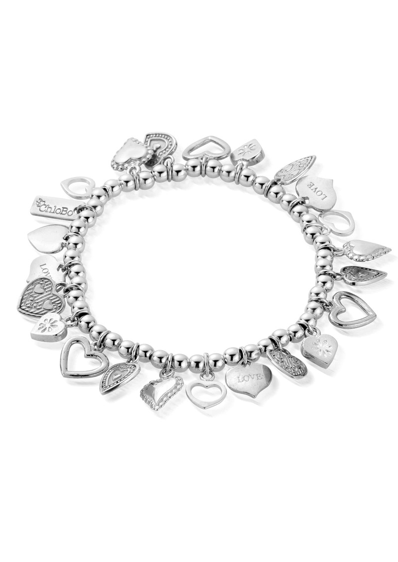 ChloBo Multi Heart Special Bracelet - Silver main image