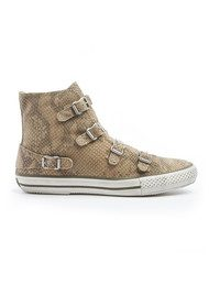 Ash Virgina Cobra Buckle Trainers - Sand