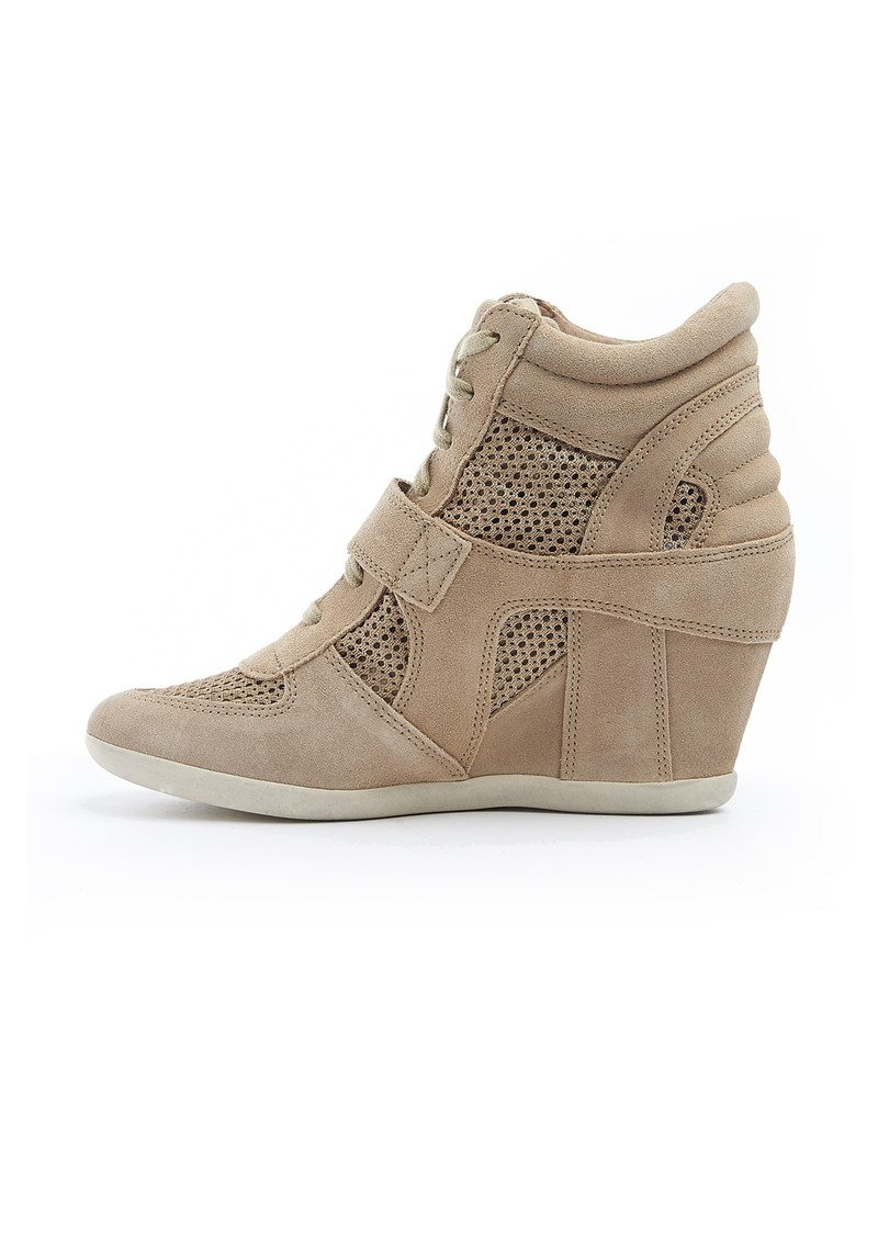 Ash Bowie Mesh Canvas Wedge Trainers - Chamois  main image