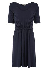 Great Plains Violette Twist Dress - Navy