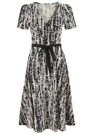 Great Plains Spindle Wrap Dress - Black & White