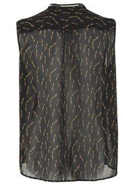 Maison Scotch Sheer Printed Sleeveless Top - Combo F