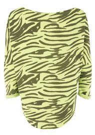 Maison Scotch Zebra Printed T Shirt - Lime