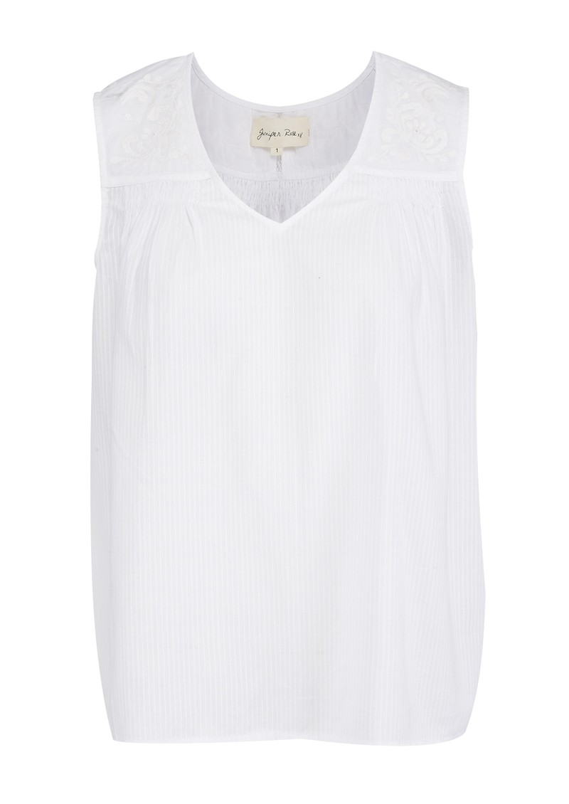 Juniper Rose Esme Sleeveless Top - White main image