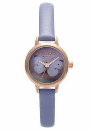 Olivia Burton Woodland Butterfly Watch - Lilac & Gold