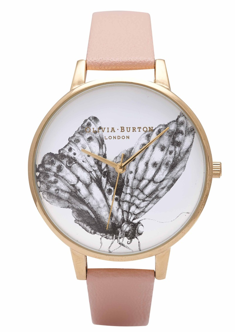 Olivia Burton Animal Motif Butterfly Watch - Dusty Pink & Gold  main image