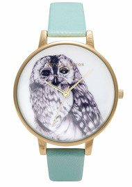 Olivia Burton Animal Motif Owl Watch - Turquoise &