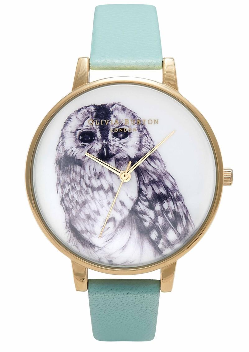 Olivia Burton Animal Motif Owl Watch - Turquoise &  main image
