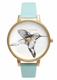 Olivia Burton Animal Motif Hummingbird Watch - Turquoise