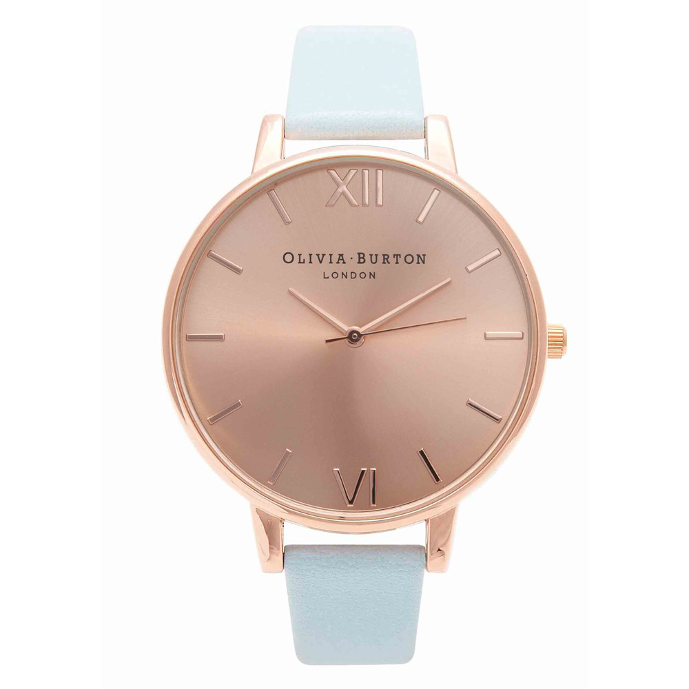 Big Dial Watch - Powder Blue & Rose Gold