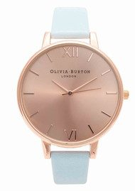 Olivia Burton Bid Dial Watch - Powder Blue & Rose Gold