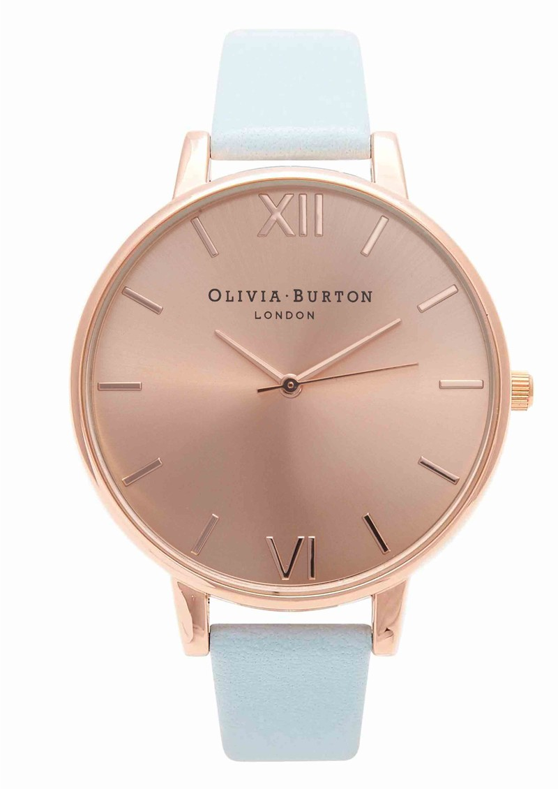 Olivia Burton Big Dial Watch - Powder Blue & Rose Gold main image