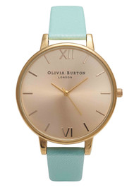 Olivia Burton Big Dial Watch - Turquoise & Gold