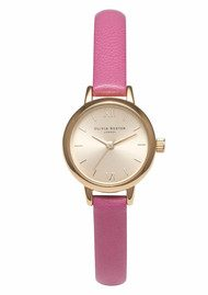 Olivia Burton Mini Dial Watch - Hot Pink & Gold