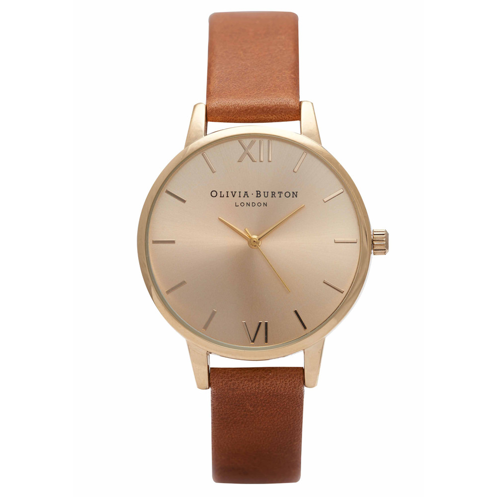Midi Dial Watch - Tan & Gold