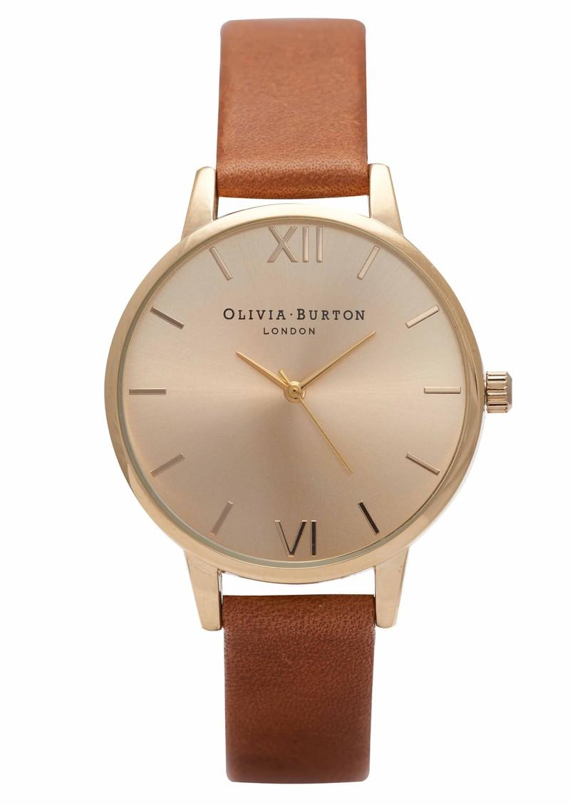 Olivia Burton Midi Dial Watch - Tan & Gold main image