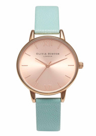 Olivia Burton Midi Dial Watch - Turquoise & Rose Gold