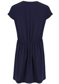 American Vintage Rayne V Neck Dress - Navy
