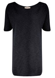 American Vintage Bakerfield Long Short Sleeve Top - Black