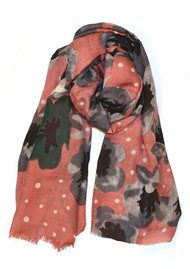 Becksondergaard H Reflected Flowers Silk & Wool Scarf - Light Grey