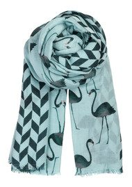 Becksondergaard H Flamingo Silk & Wool Scarf - Green