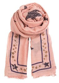 Becksondergaard H Star Of Leaves Silk & Wool Scarf - Old Rose