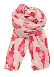 Becksondergaard H Parrot Crowd Scarf - Electric Coral