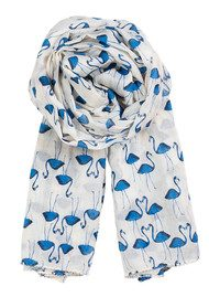 Becksondergaard H Flamingo Flock Scarf - French Blue