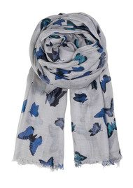 Becksondergaard H Butterfly Dream Scarf - Light Grey