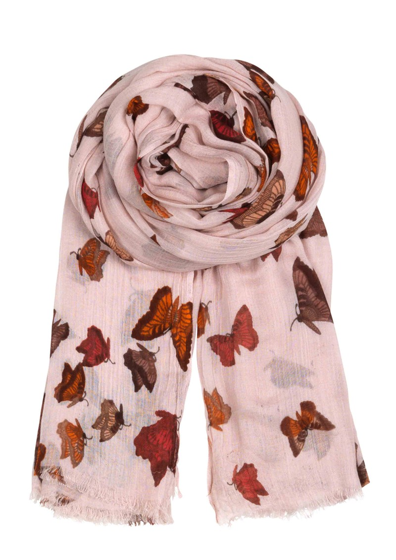 H Butterfly Dream Scarf - Lipstick main image