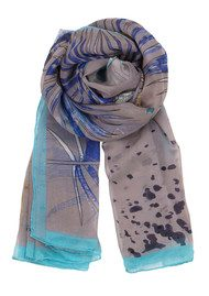 Becksondergaard H Parrot Silk Scarf - Light Grey