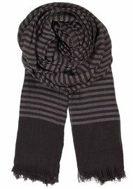 Becksondergaard H Land Of Stripes Scarf - Cat Grey