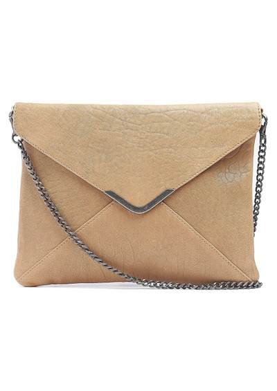 Twist and Tango Tammy Leather Clutch Bag - Beige  main image