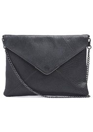 Twist & Tango Tammy Leather Clutch Bag - Black
