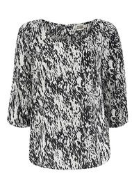 Twist & Tango Noelle Blouse - White & Black