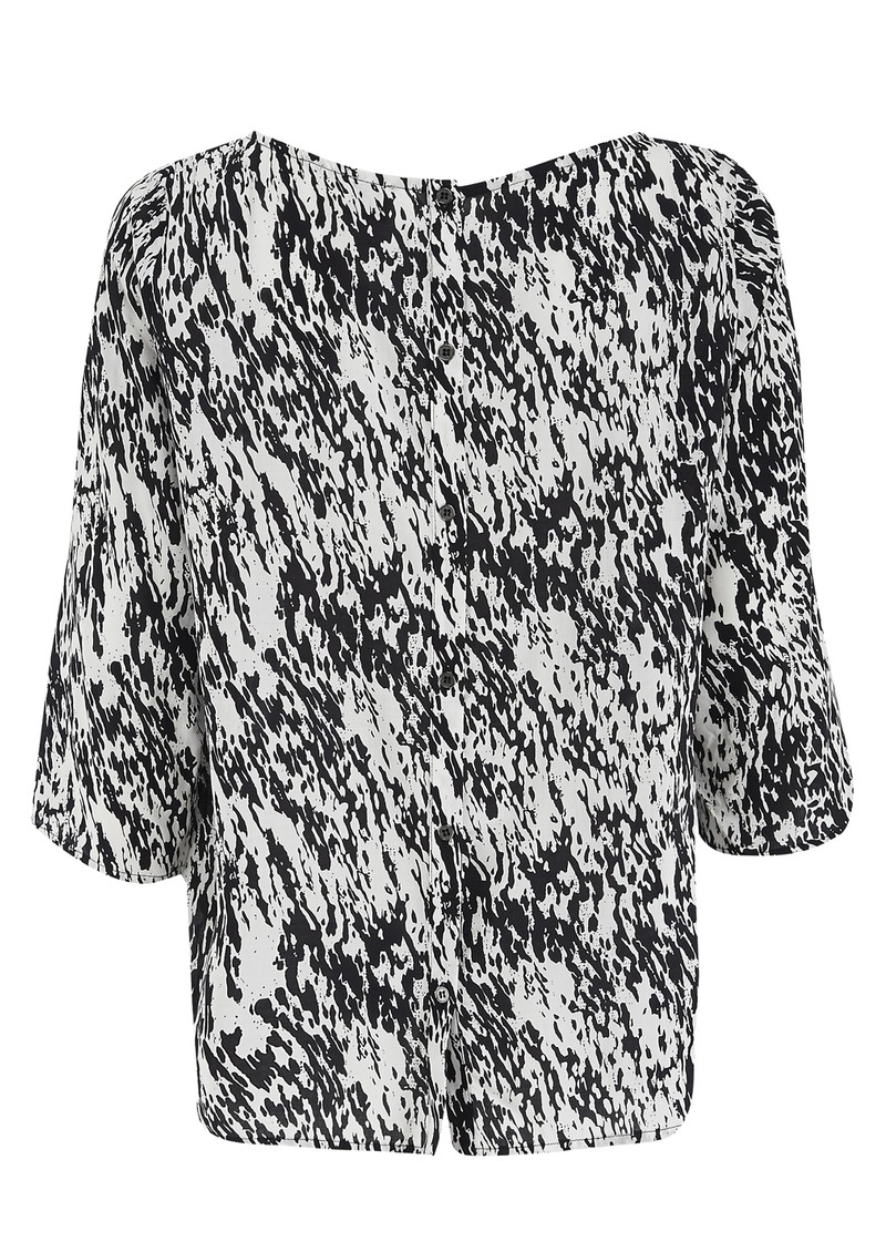 Twist and Tango Noelle Blouse - White & Black main image